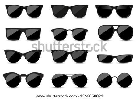 big set of fashionable black