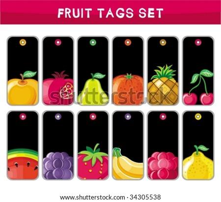 Big set of fruit tags. To see similar,  please VISIT MY PORTFOLIO