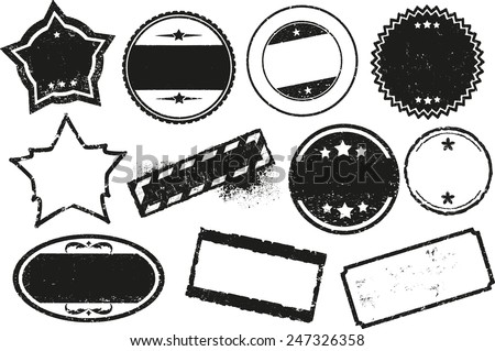 Stamp Template  Download Free Vector Art Stock Graphics  Images