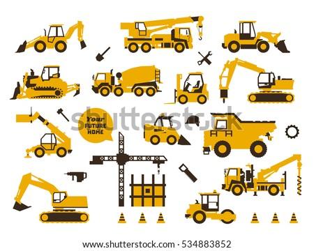 big set of icons construction