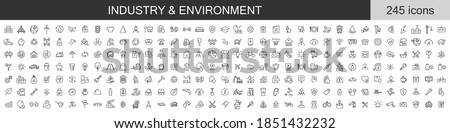 Big set of 245 Industry and Environment icons. Thin line icons collection. Vector illustration Foto stock ©