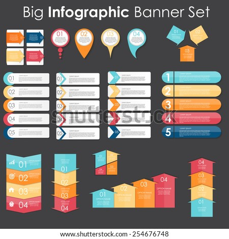 big set of infographic banner