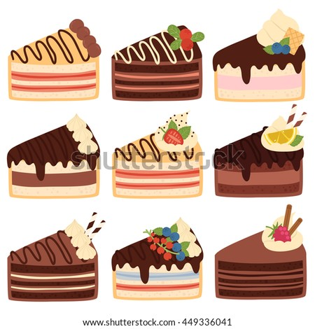 different cake flavors fresh vector 9 free vector 4vector 3537