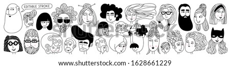big set of people avatars for