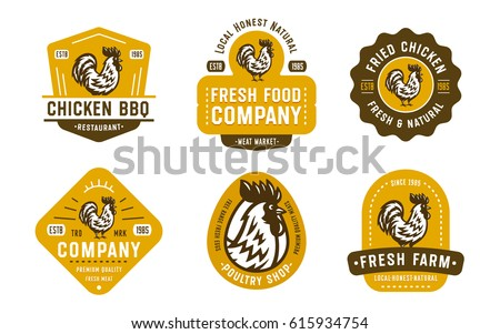 Big Set of Quality Vintage Rooster Emblems, Badges and Logo designs. Cock Vector Illustration. Great for Farms, Poultry Business, Organic Foods, Butchery, Meat Stores, Restaurants etc.