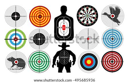 big set of targets isolated