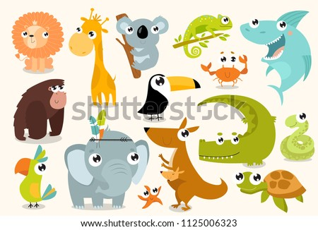 big set of vector animals