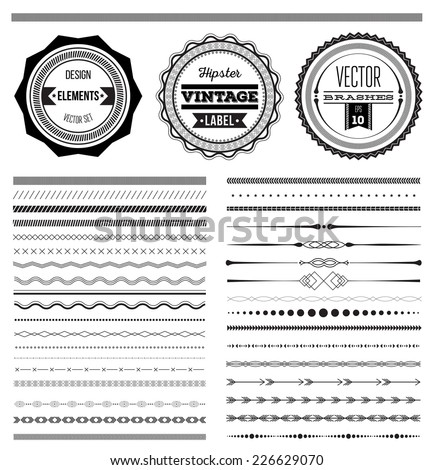 big set of vector dividers for