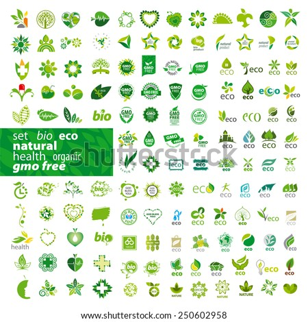 big set of vector icons ecology