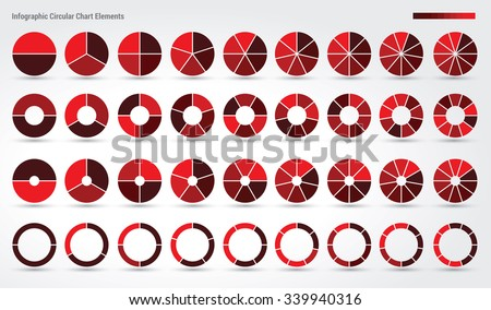 Big set, of wheel diagrams with 2, 3, 4, 5, 6, 7, 8, 9 and 10 sides