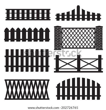 big set of wooden fence