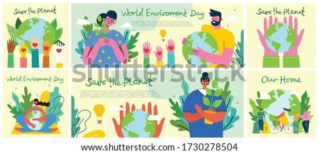 big set of world environment
