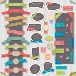 Big set retro design elements and speech bubbles. Vector collection