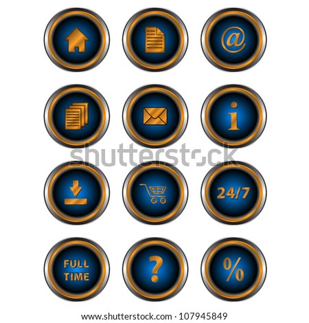Big set web of icons