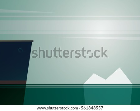 big ship sailing on sea with