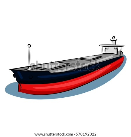 big ship with waterline at the