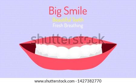 big smile beautiful teeth and