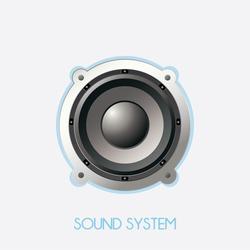 big speaker isolated. vector illustration