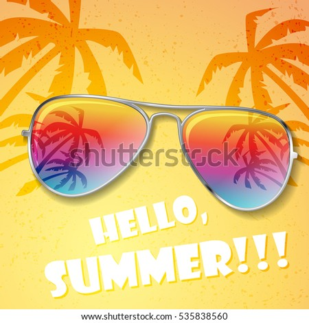 big summer sunglasses with