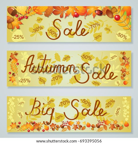 big super autumn sale poster