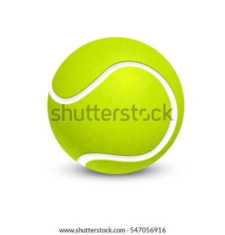 big tennis ball isolated on