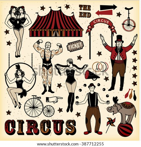 big top circus stars set