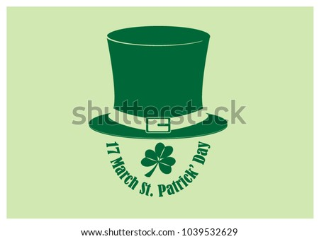 big top hat with shamrock plant