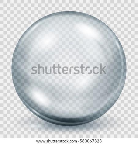 big translucent gray sphere