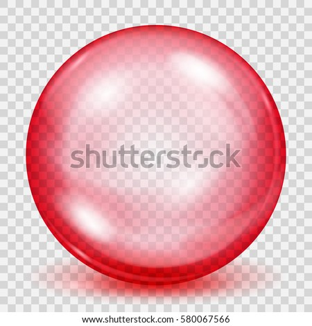big translucent red sphere with