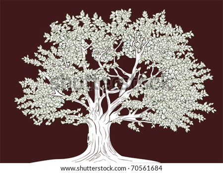 Big tree in graphical style