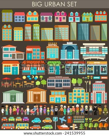 big urban set vector