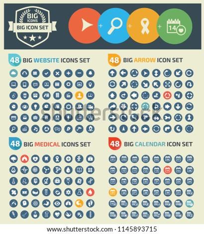 Big vector icon set design