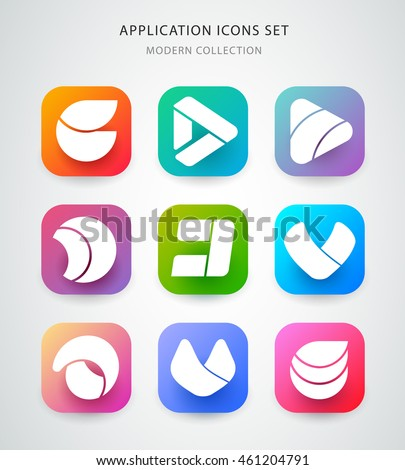 big vector icons set for