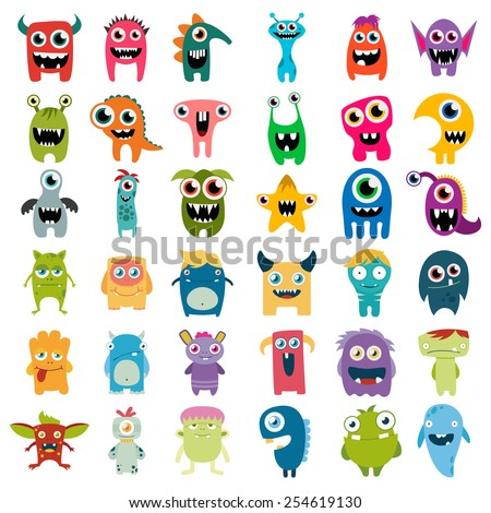 stock-vector-big-vector-set-of-cartoon-cute-monsters