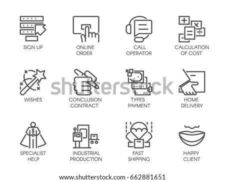 big vector set of 12 icons in