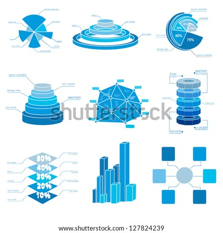 Big Vector set of Infographic elements.  Vector Illustration, eps10, contains transparencies.
