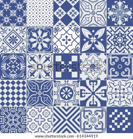 big vector set of tiles