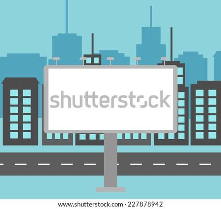 big white blank billboard in