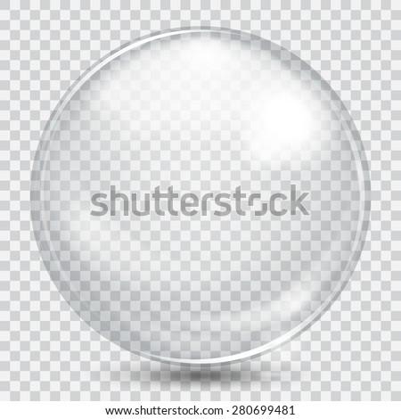 big white transparent glass