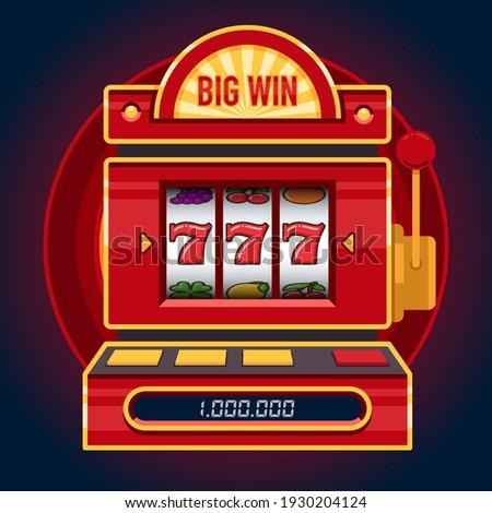 Big win red slot machine game. Win 777 jackpot. Lucky seven. Casino vegas game. Jackpot triple seven.