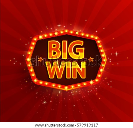 big win retro banner with