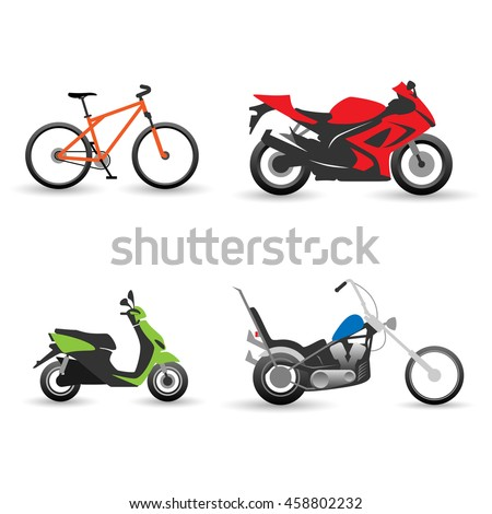 bike and motorbike set