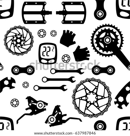 bike bicycle parts seamless