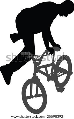 bike, biker, vector