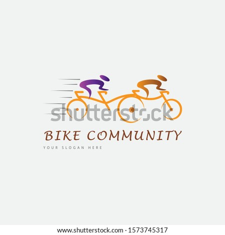 Bike community, Modern Community logo. Teamwork. Social . Partnership, reunion, business, foundation, team,
