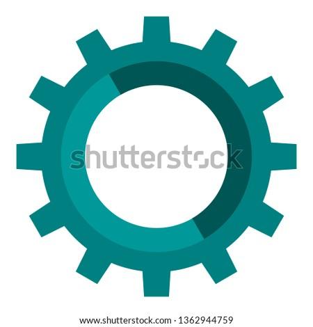 bike gear vector. engineering gear. gear design.