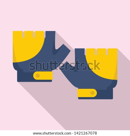 Bike gloves icon. Flat illustration of bike gloves vector icon for web design