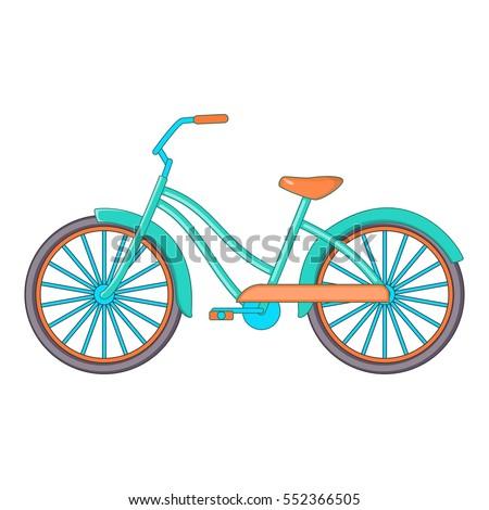 bike icon cartoon illustration