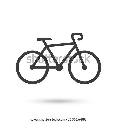 bike icon flat vector