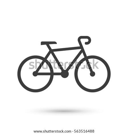 bike icon flat vector